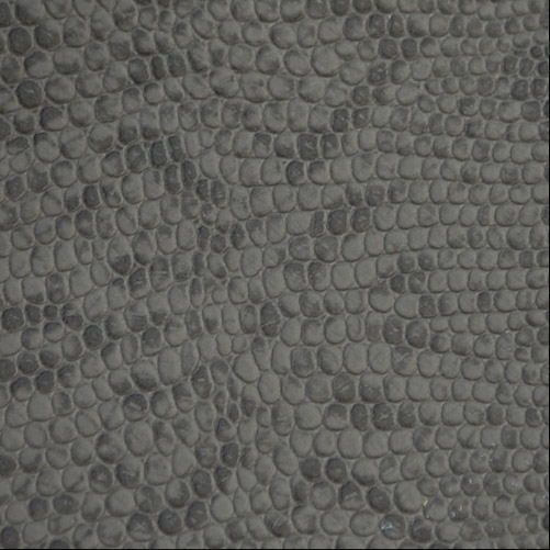 Charcoal Embossed Snake Leather Hides