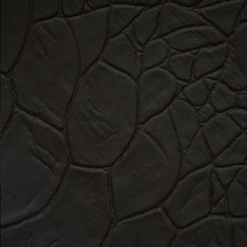 Black Turtle Skin Embossed leather hides for sale