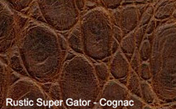 Rustic Super Alligator Exotic Embossed Leather for sale!
