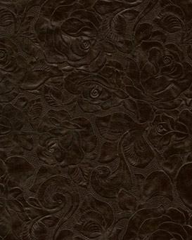 Black Eagle Embossed Floral Leather