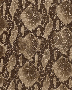 Brown Ridiculous Snake Embossed Leather