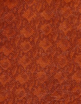 Cognac Serpentine Embossed Leather
