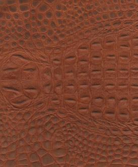 Nubuck Crocodile Embossed Leather