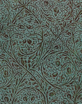 Turquoise Western Tool Embossed Floral Leather